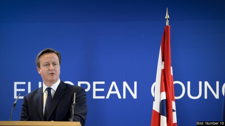 Den brittiske premiärministern David Cameron. Arkivbild.