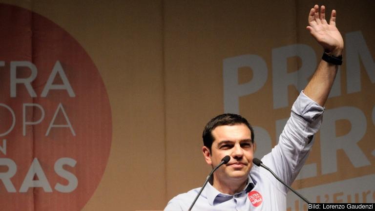 Syrizaledaren Alexix Tsipras. Foto: Lorenzo Gaudenzi