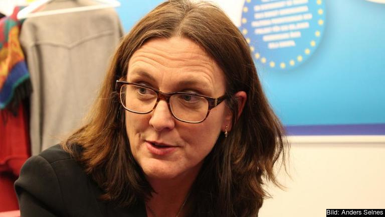 EU-kommissionär Cecilia Malmström meddelade på tisdagen att handelsförhandlingarna med Vietnam i princip var klara. Arkivbild.