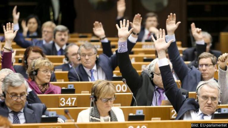 Omröstning i EU-parlamentet. Arkivbild.