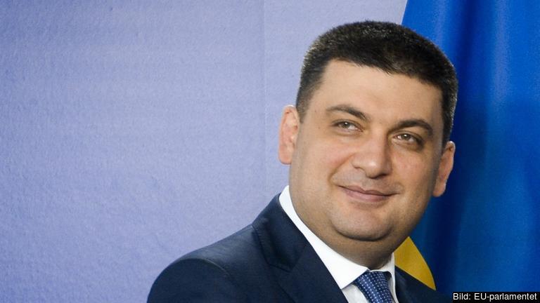 Ukrainas nye premiärminister Volodymyr Hrojsman. Akrivbild.