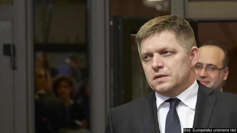 Slovakiens socialdemokratiske premiärminister Robert Fico. Arkivbild.