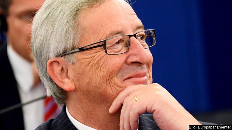 EU-kommissionens nye ordförande Jean-Claude Juncker efter tisdagens omröstning.