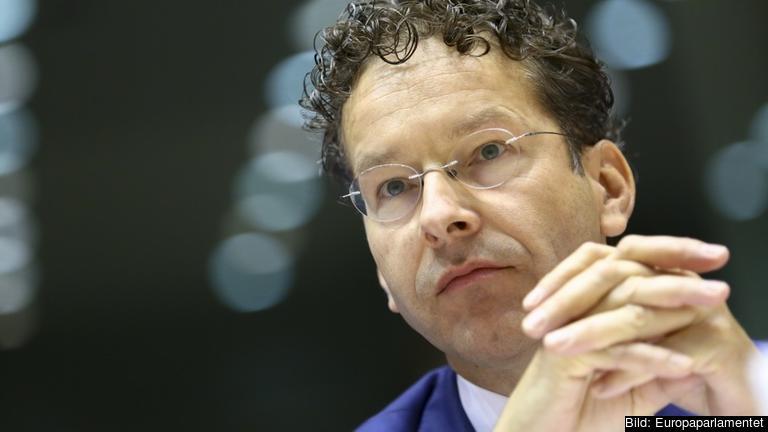 Eurogruppens ordförande Jeroen Dijsselbloem under tisdagens utfrågning.