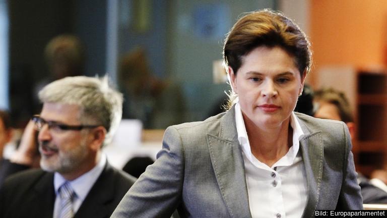 Alenka Bratušek efter måndagen utfrågning i EU-parlamentet.