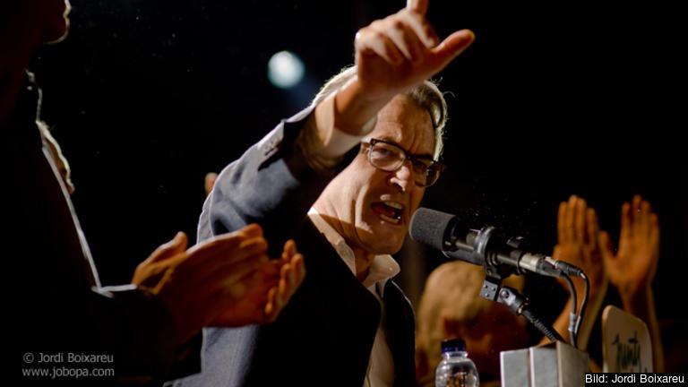 Kataloniens president Artur Mas efter söndagens val.