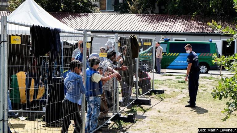 Flyktingläger utanför Szeged i södra Ungern. Arkivbild.