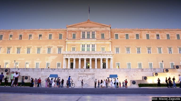 Det grekiska parlamentet. Arkivbild.