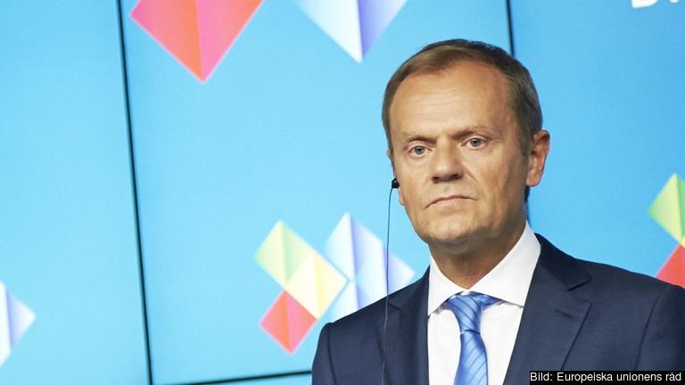 Europeiska rådets ordförande Donald Tusk. Arkivbild.