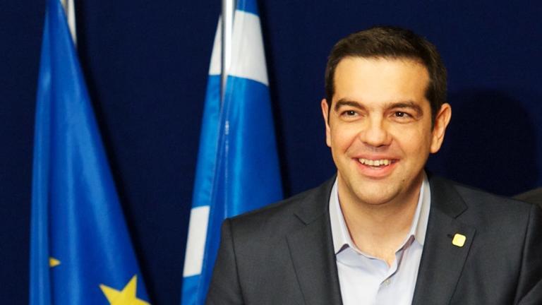 Greklands premiärminister Alexis Tsipras stöd ökar. Arkivbild.