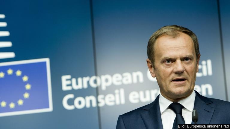 Europeiska rådets ordförande Donald Tusk har i veckan samtalat med medlemsländerna om ett extrainsatt toppmöte. Arkivbild.