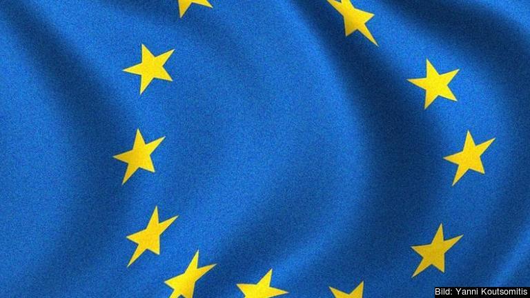 Delar av EU:s flagga.