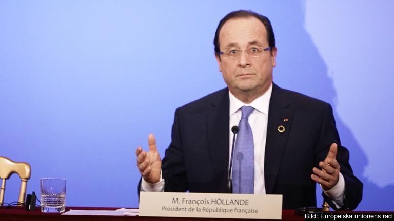 Trycket på den franske presidenten François Hollande ökar. Arkivbild.