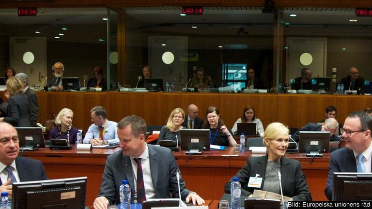 Inrikesminister Anders Ygeman vid ett tidigare rådsmöte i Bryssel. Arkivbild.