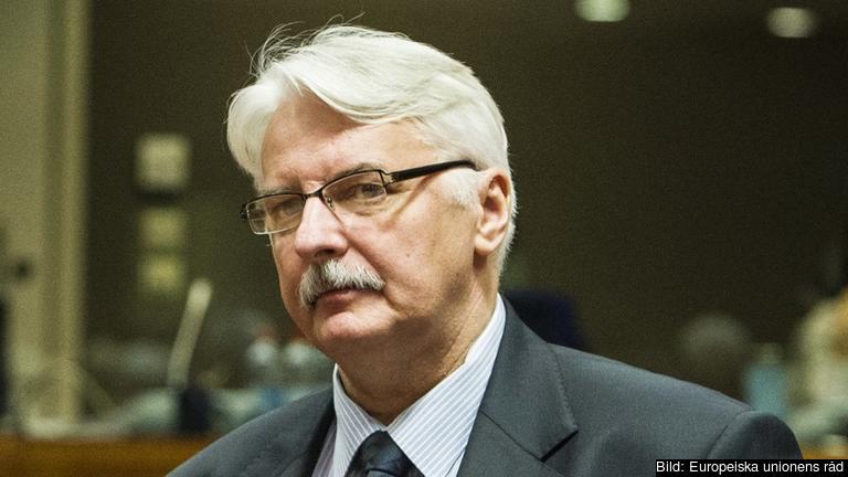 Polens utrikesminister Witold Waszczykowski. Arkivbild.
