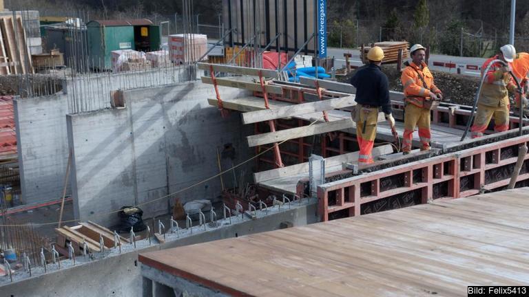 Under 2014 fanns drygt 38 000 utstationerade arbetstagare i Sverige, de flesta inom byggbranschen. Arkivbild.