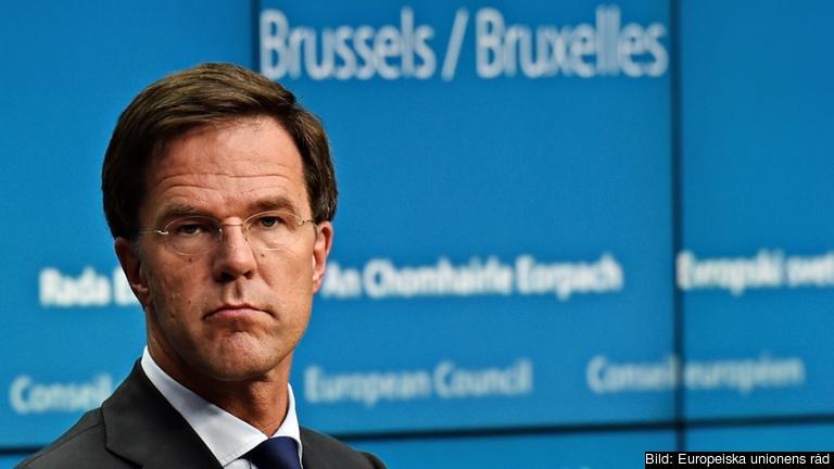 Nederländernas premiärminister Mark Rutte. Arkivbild.