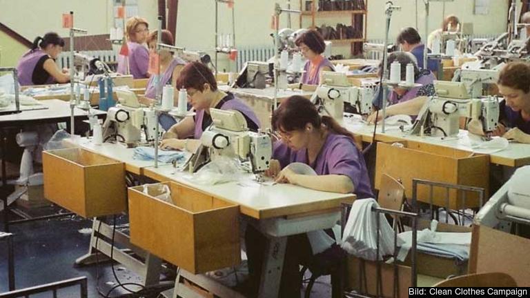 Textilindustri i Kroatien. Arkivbild.