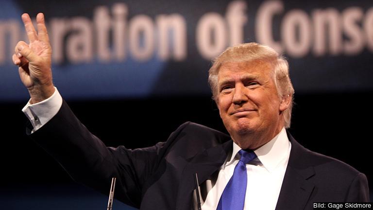 USA:s näste president Donald Trump. Arkivbild.