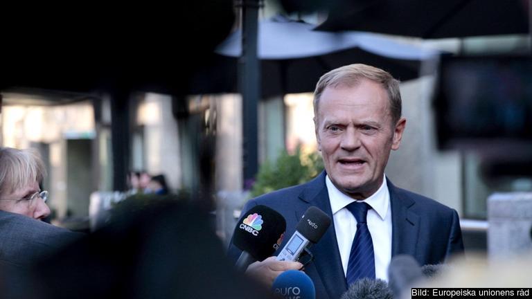 Europeiska rådets ordförande Donald Tusk inför fredagens toppmöte i Bratislava.