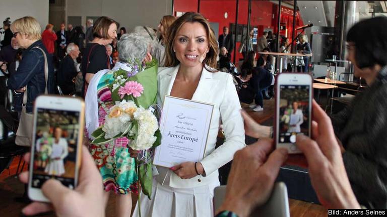 Alexandra Pascalidou Årets europé 2015.