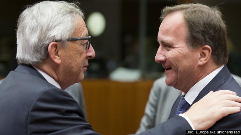 EU-kommissionens ordförande Jean-Claude Juncker och statsminister Stefan Löfven (S). Arkivbild.