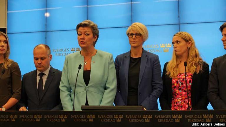 Arbetsmarknadsminister Ylva Johansson (S) presenterade en ny överenskommelse mellan sex partier om svensk flyktingpolitik de närmaste åren.