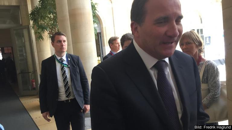 Statsminister Stefan Löfven (S) efter torsdagens arbetsmarknadsminitoppmöte.