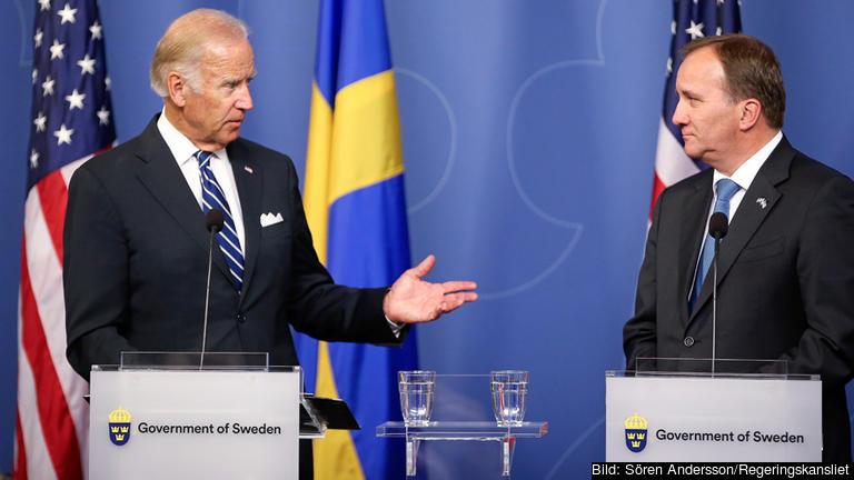 USA:s vicepresident Joe Biden och statsminister Stefan Löfven (S) mötes i Stockholm på torsdagen.