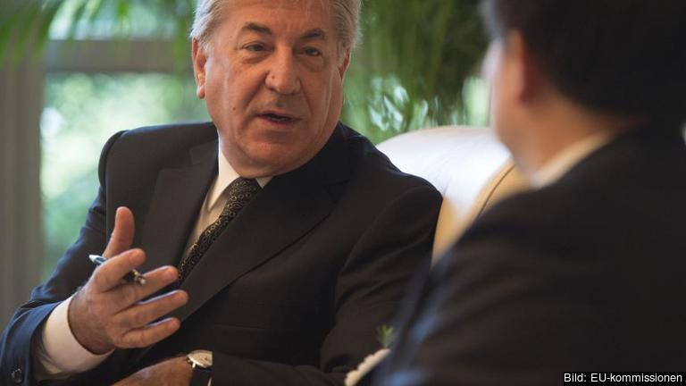 Karmenu Vella, EU-kommissionär för miljö, havs och fiskefrågor.