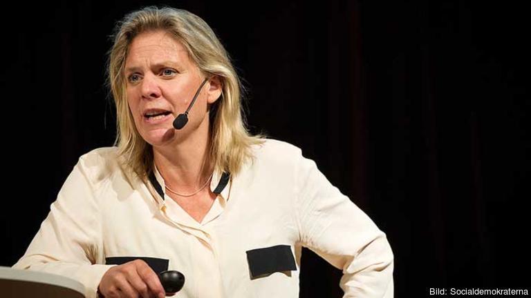 Finansminister Magdalena Andersson (S) kan tänka sig stödja EU-kommissionens klimatmål. Arkivbild.