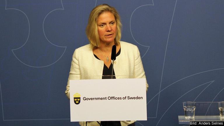 Finansminister Magdalena Andersson (S) tror inte indragna EU-bidrag för att pressa triskande EU-länder att följa EU-beslut är en framkomlig väg. Arkivbild.