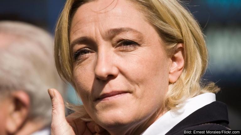 Marine Le Pen väntas nå ett sämre resultat i andra valomgången då det endast kommer stå mellan två kandidater.