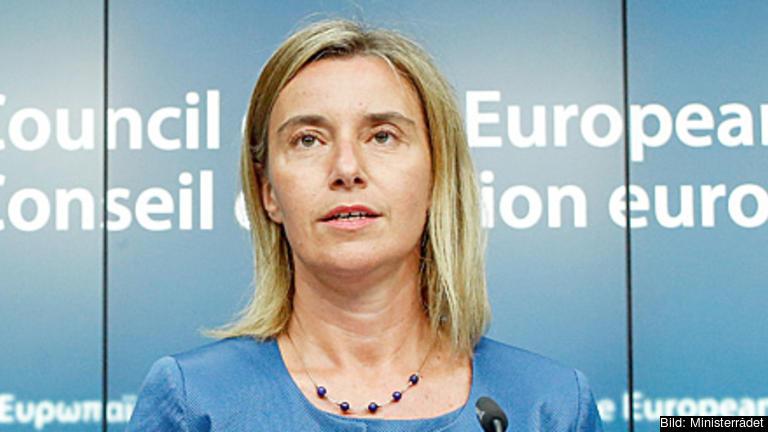 EU:s höga representant för utrikes frågor och säkerhetspolitik och vice ordförande i Europeiska kommissionen Federica Mogherini lovar satsningar i norra Sverige och Finland. Arkivbild.