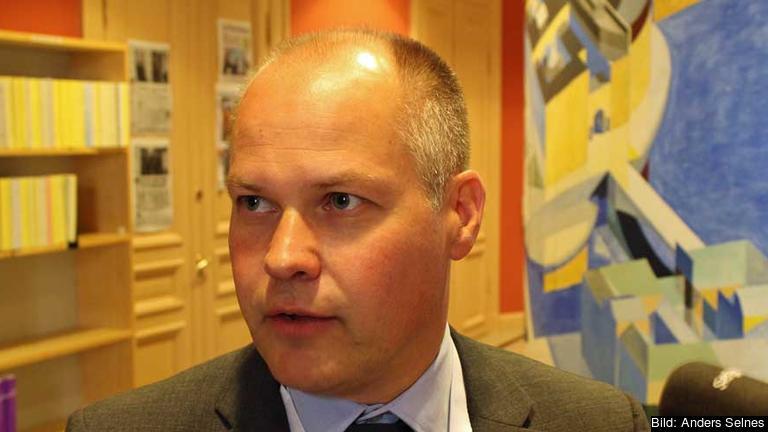 Justitieminister Morgan Johansson (S) utanför riksdagens EU-nämnd på fredagen.