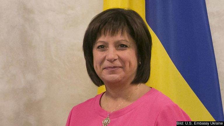 Ukrainas finansminister Natalie Jaresko. Arkivbild