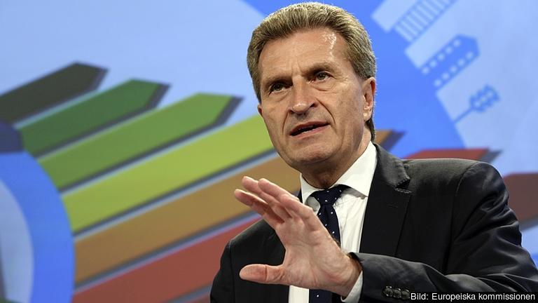 EU:s energikommissionär Günther Oettinger.