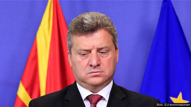 Den makedonske presidenten Gjorge Ivanov beskylls för att skydda allierade i en omfattande avlyssningsskadal. Arkivbild.