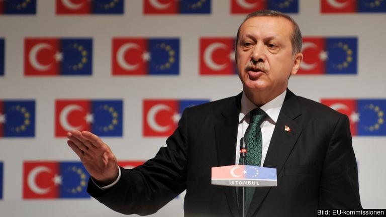 Turkiets president Recep Tayyip Erdoğan. Arkivbild.