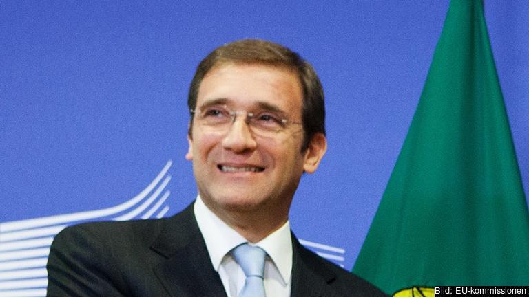 Nyutsedde premiärminister Pedro Passos Coelho får en svår uppgift att styra Portugal utan majoritet i parlamentet. Arkivbild.