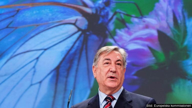 EU-kommissionär Karmenu Vella med ansvar för miljö-, fiske- och havsfrågor