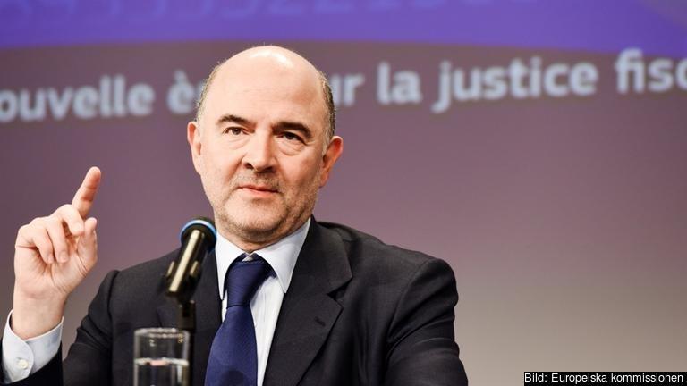 EU-kommissionär Pierre Moscovici ansvarar för skattefrågor.