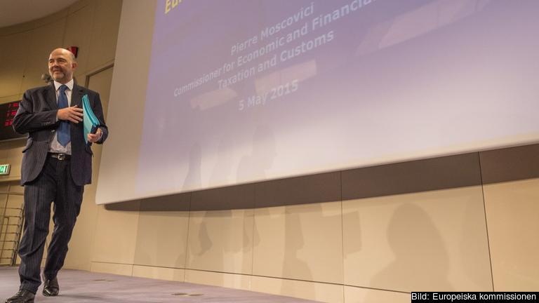 EU:s ekonomikommissionär Pierre Moscovici. Foto: EU-kommissionen