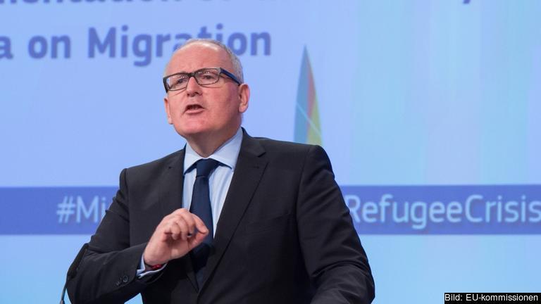 EU-kommissionens förste vice ordförande Frans Timmermans.