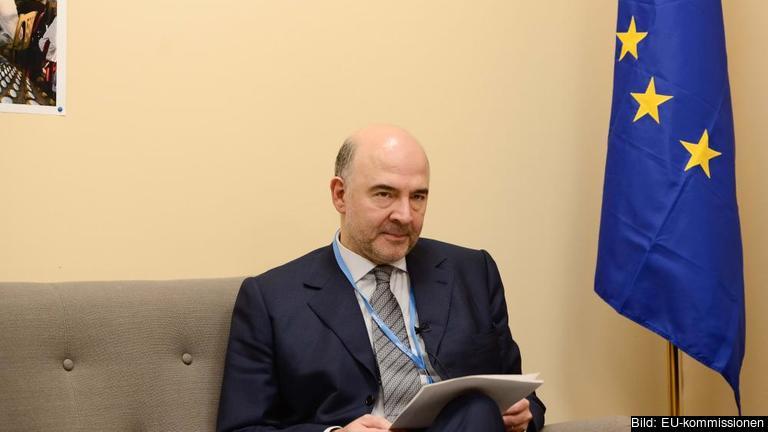 Skattekommissionären Pierre Moscovici. Arkivbild.