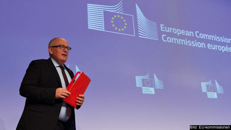 EU-kommissionens förste vice ordförande, den nederländske socialdemokraten Frans Timmermans.