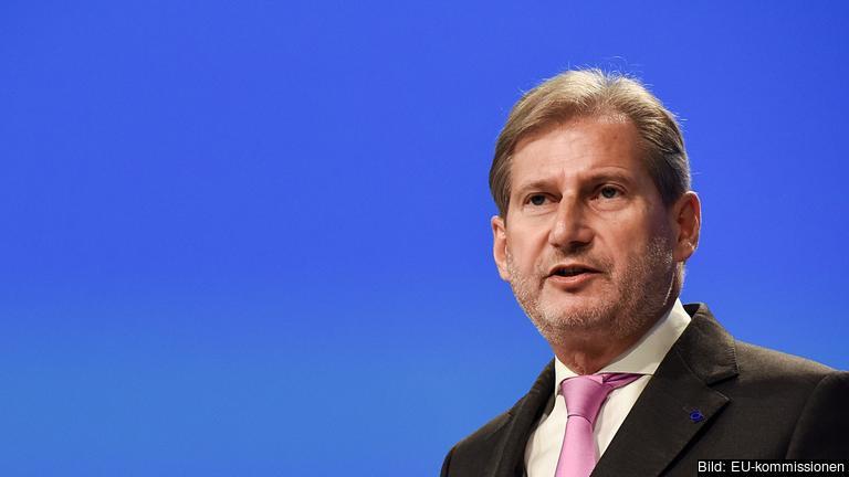 EU:s grannskapskommissionär Johannes Hahn, en österrikisk kristdemokrat.