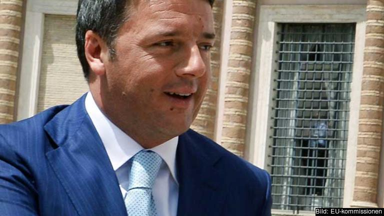Italiens premiärminister Matteo Renzi (S).