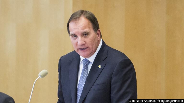 Statsminister Stefan Löfven (S) avger regeringsförklaringen i riksdagen. Arkivbild.