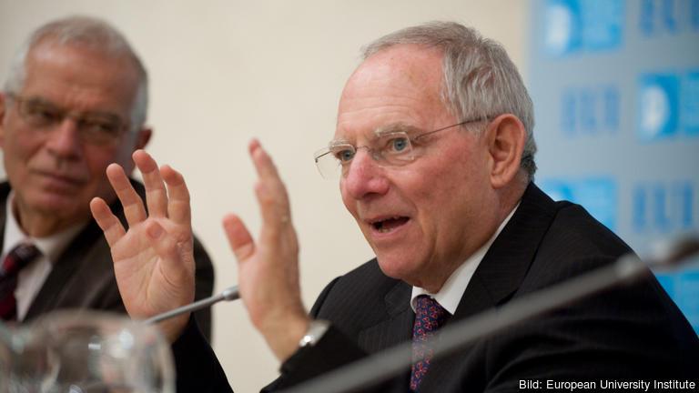Tysklands finansminister Wolfgang Schäuble. Arkivbild.
